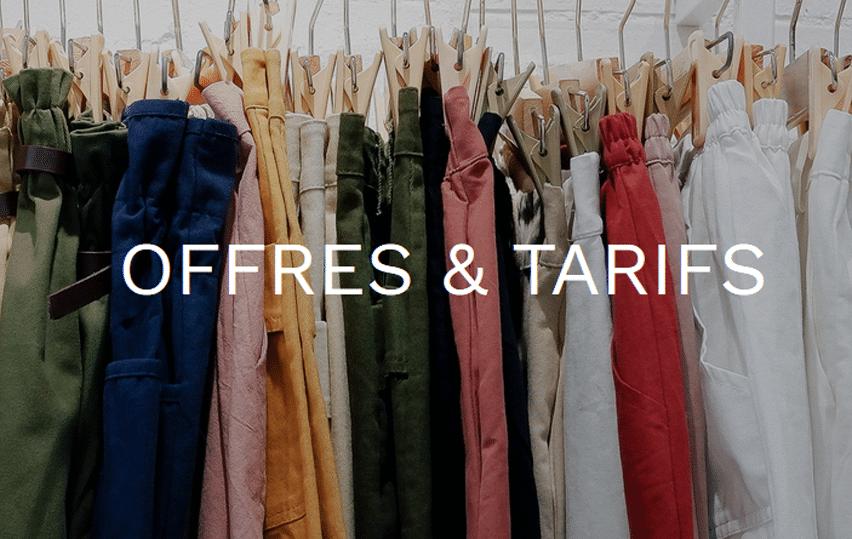 Offres et Tarifs echange vêtement